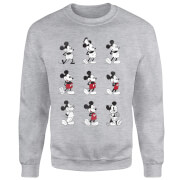 Disney Mickey Mouse Evolution Nine Poses Sweatshirt - Grey
