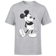 Disney Mickey Mouse Classic Kick Zwart/Wit T-shirt - Grijs