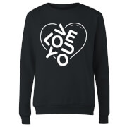 Love You Jumble Women's Sweatshirt - Black