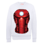 Marvel Avengers Assemble Iron Man Chest Burst Sweatshirt - White