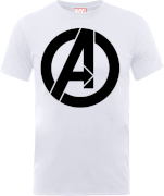 T-Shirt Homme Marvel Avengers - Logo Simple - Blanc