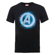 Marvel Avengers Assemble Glowing Logo T-Shirt - Black