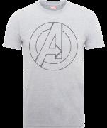 Marvel Avengers Assemble Outline Logo T-shirt - Grijs