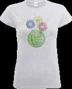 Marvel Avengers Hulk Flower Fist Women's T-Shirt - Grey