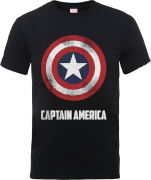 Marvel Avengers Assemble Captain America Shield Logo T-Shirt - Black