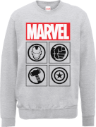 Marvel Avengers Assemble Icons Pullover Sweatshirt - Grey