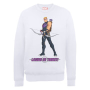 Marvel Avengers Assemble Hawkeye Locked On Sweatshirt - White