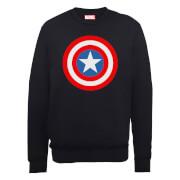 Marvel Avengers Assemble Captain America Simple Shield Sweatshirt - Black