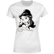 Disney Beauty And The Beast Princess Belle Sparkle Women's T-Shirt - White