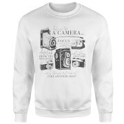 Life Is Like A Camera Sweatshirt - White