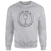 Liquid Diet Wine Sweatshirt - Grey