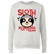 Sloth Running Team Women's Sweatshirt - White