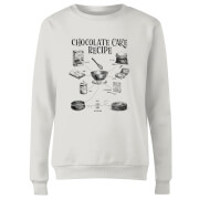 Chocolate Cake Recipe Women's Sweatshirt - White