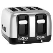 Dualit 46600 Domus 4 Slot Toaster - Polished Steel/Black