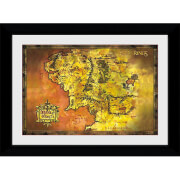 Lord of The Rings Classic Map Collector's 50 x 70cm Framed Photograph