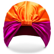 Turban Protecteur en Soie The Poppy SILKE – Rose et Orange