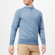 GANT Men's Original Crew Neck Sweatshirt - Denim Blue Melange