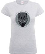 T-Shirt Femme Black Panther Made in Wakanda - Gris