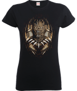 Black Panther Gold Erik Killmonger Dames T-shirt - Zwart