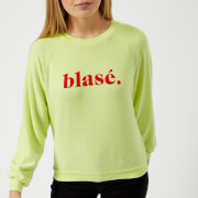 Wildfox Women's Blasé Sweatshirt - Yellow Glow
