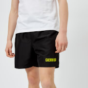 Calvin Klein Men's Double Waistband Swim Shorts - Black
