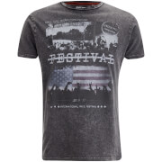 Brave Soul Men's Gig T-Shirt - Dark Charcoal Wash