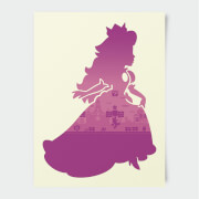 Nintendo Super Mario Peach Silhouette Poster