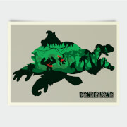 Nintendo Donkey Kong Silhouette Print
