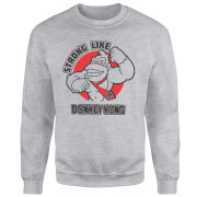 Sweat Homme Strong Like Donkey Kong - Gris