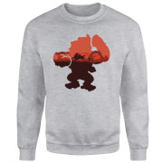 Sweat Homme Silhouette Donkey Kong Serengeti - Gris