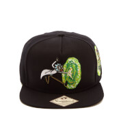 Rick and Morty Men's Embossed Portal Snapback Cap - Black