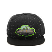 Rick and Morty Men's Spaceship Snapback Cap - Black