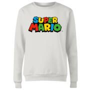 Sweat Femme Logo Couleur Super Mario - Nintendo - Blanc