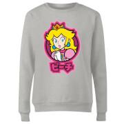 Nintendo Super Mario Peach Kanji Women's Sweatshirt - Grey