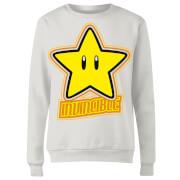 Sudadera Nintendo Super Mario Estrella - Mujer - Blanco