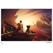 Sea Of Thieves - Kraken Encounter Limited Edition Art Print Measures 41.91 x 29.72cm