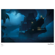 Sea Of Thieves - Moonlight Respite Limited Edition Art Print Measures 41.91 x 29.72cm