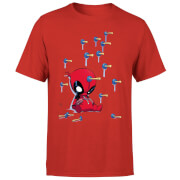 Marvel Deadpool Cartoon Knockout T-Shirt - Rood