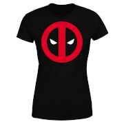 Marvel Deadpool Clean Logo Women's T-Shirt - Black