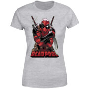 T-Shirt Femme Deadpool (Marvel) Ready For Action - Gris