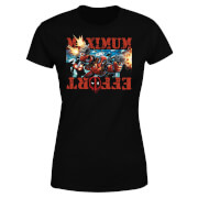 T-Shirt Femme Deadpool (Marvel) Maximum Effort - Noir