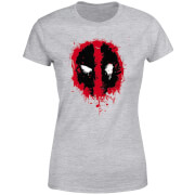 Marvel Deadpool Splat Face Women's T-Shirt - Grey