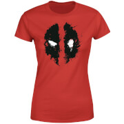 Marvel Deadpool Splat Face Women's T-Shirt - Red