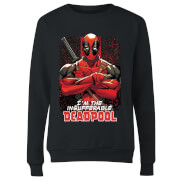 Marvel Deadpool Crossed Arms Damen Pullover - Schwarz