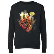 Marvel Deadpool Outta The Way Nerd Women's Sweatshirt - Black