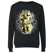 Marvel Avengers Infinity War Fist Comic Women's Sweatshirt - Black