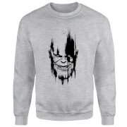 Marvel Avengers Infinity War Thanos Face Sweatshirt - Grey
