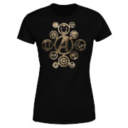 Marvel Avengers Infinity War Icon Damen T-Shirt - Schwarz