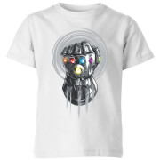 Marvel Avengers Infinity War Thanos Infinite Power Fist Kinder T-shirt - Wit