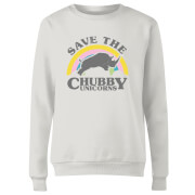 Save The Chubby Unicorns Women's Sweatshirt - White